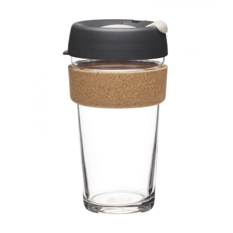 KeepCup BREW CORK EDITION - Coffee to go Becher aus Glas - Press