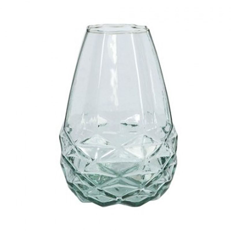 FAIRTRADE VASE DIAMANT - Recyclingglas