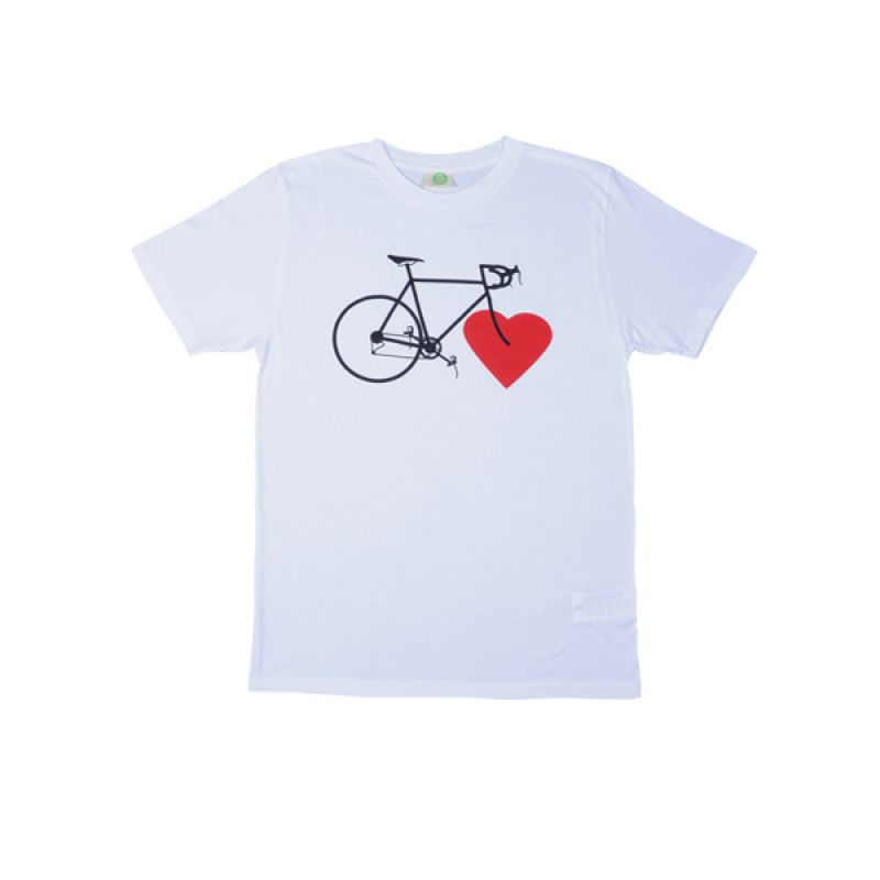 NICE GREEN STUFF - T-Shirt - BIKE LOVE (boys/weiß)
