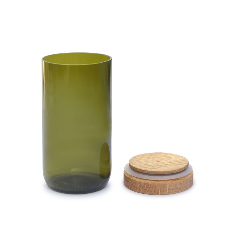 side-by-side-recycling-vorratsglas-grün