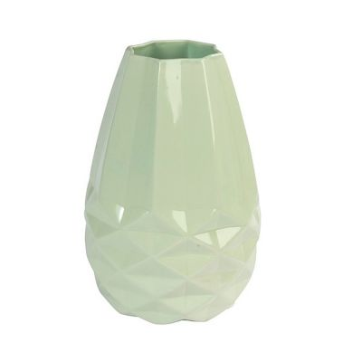 FAIRTRADE VASE DIAMANT - mintgrün Keramik