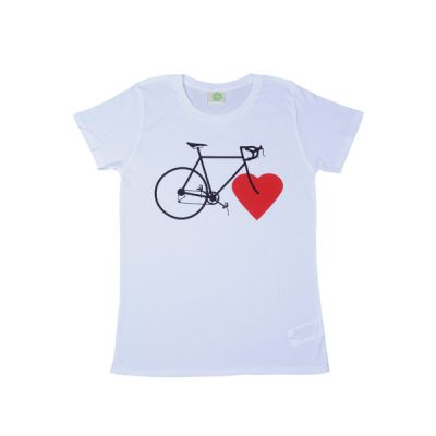 NICE GREEN STUFF - T-Shirt - BIKE LOVE (girls/weiß)