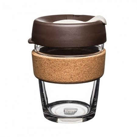 KeepCup BREW CORK EDITION - Coffee to go Becher aus Glas - Almond