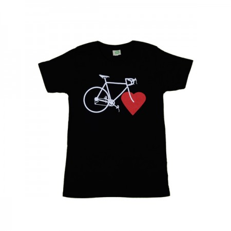 NICE GREEN STUFF - T-Shirt - BIKE LOVE (girls/schwarz)