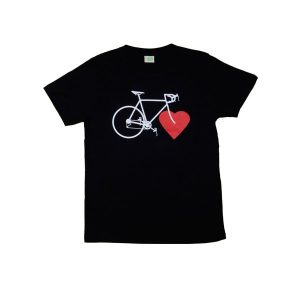 NICE GREEN STUFF - T-Shirt - BIKE LOVE (boys/schwarz)-0