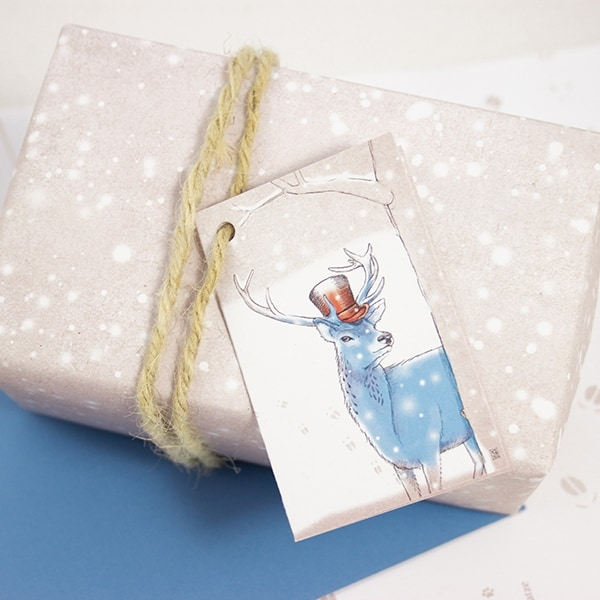 bow-hummingbird-geschenkpapier-schnee