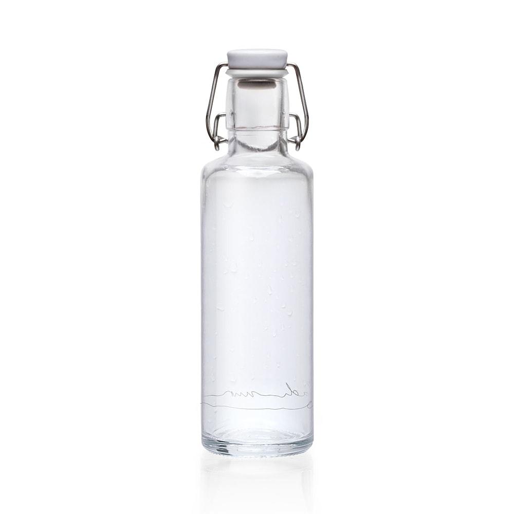 """SOULBOTTLE - 0.6L - Trinkflasche aus Glas """"EINFACH NUR WASSER""""-2518"""
