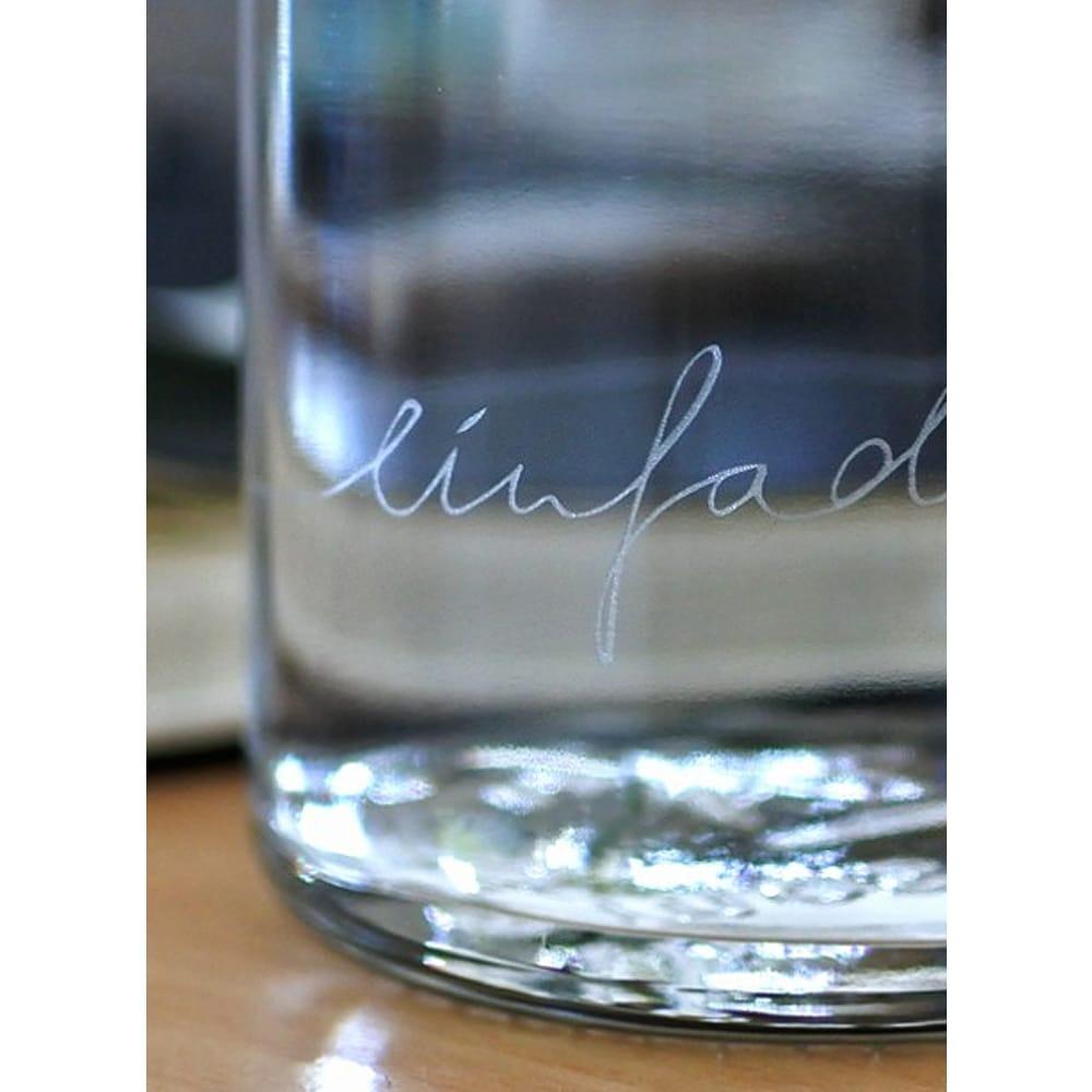 """SOULBOTTLE - 0.6L - Trinkflasche aus Glas """"EINFACH NUR WASSER""""-2519"""