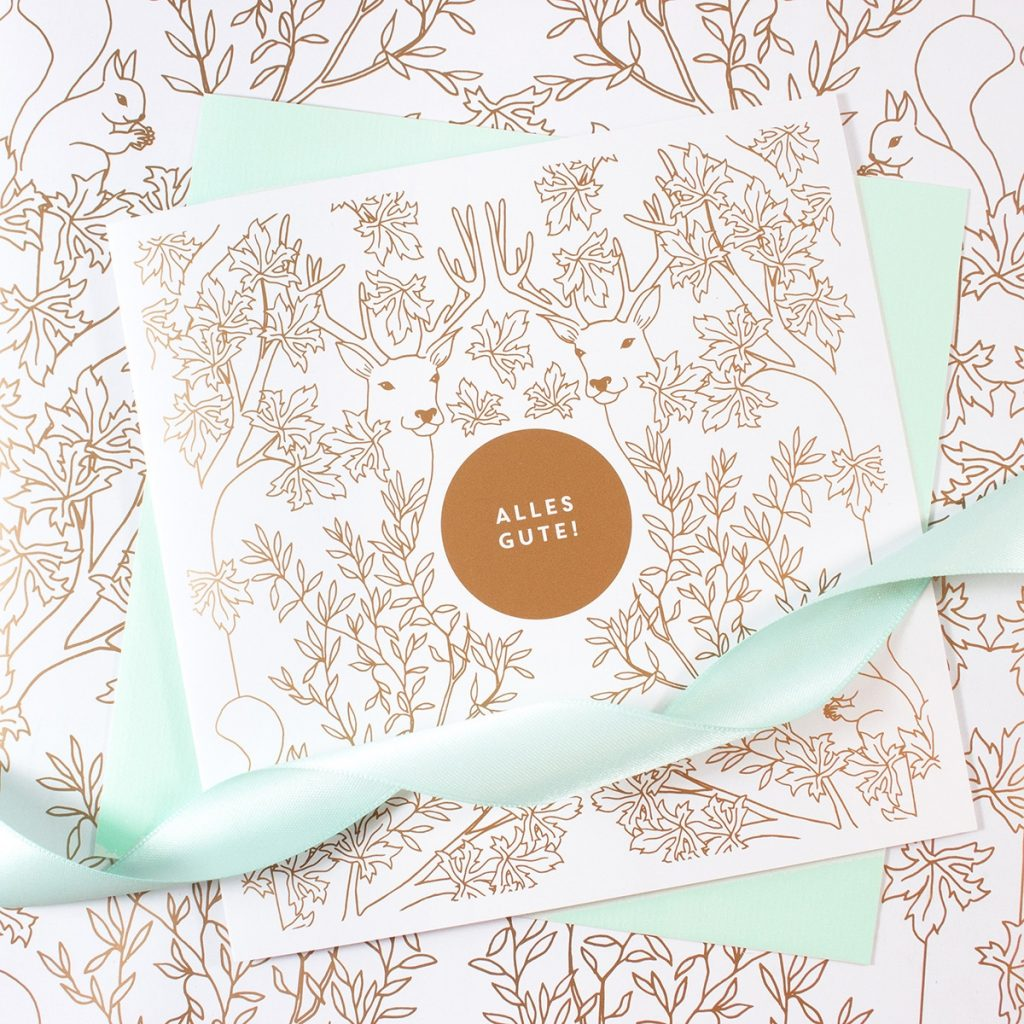 bow-hummingbird-oekologisches-design-geschenkpapier-deep-forest