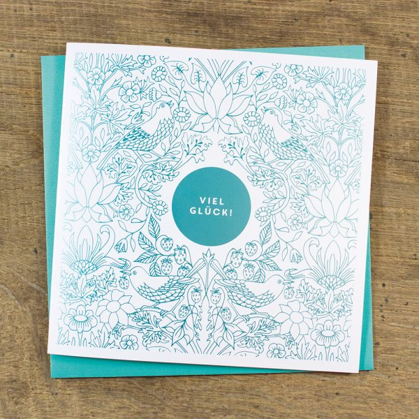 bow-hummingbird-grusskarte-viel-glueck